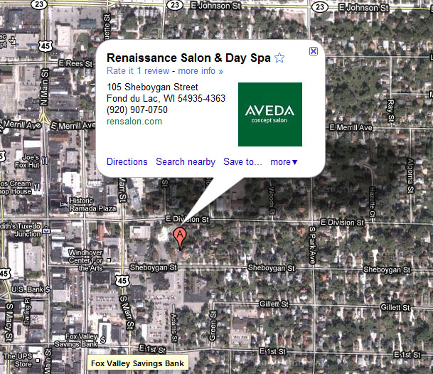 Google Map of Rennaissance Salon